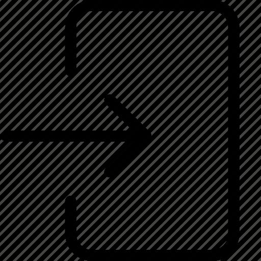 exit, import, login icon