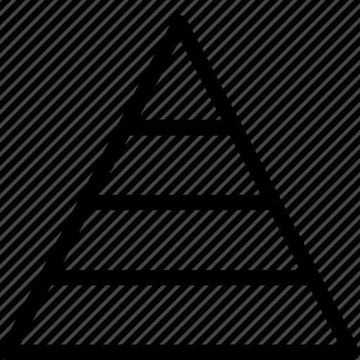 delegation, hierarchy, pyramid icon