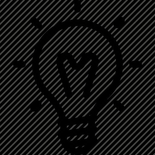bulb, glow, idea, light, lighting icon