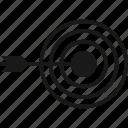 aim, archery, bullseye, target icon