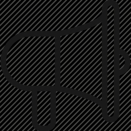 bullhorn, megaphone, notification, sound icon