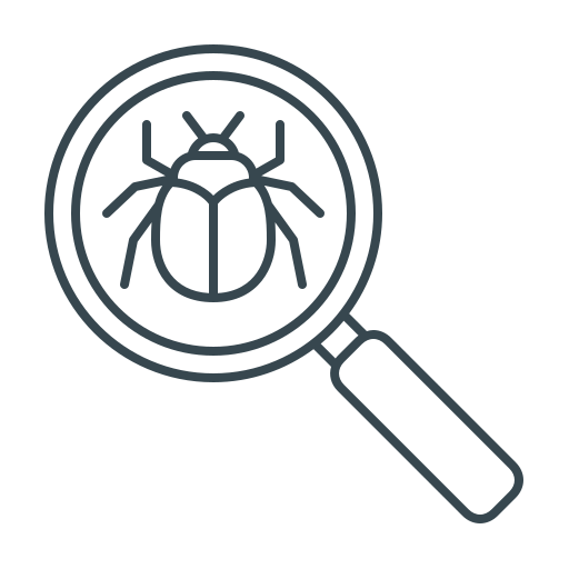 bug, bug search, magnifier, magnifying, search, seo icon