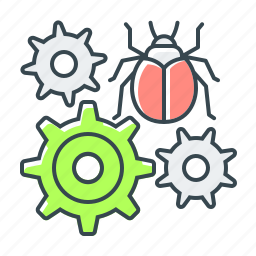 bug, bug fixing, fixing, seo, virus icon