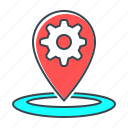 marker, market, optimization, pin, place, place optimization, seo icon