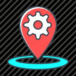 marker, market, optimization, pin, place, place optimization, seo icon