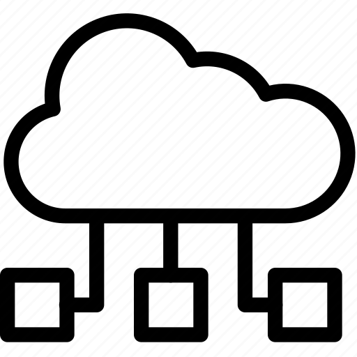 cloud, database, shared, storage, virtual icon
