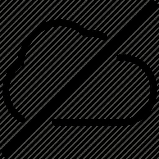 cloud, offline, unavailable icon