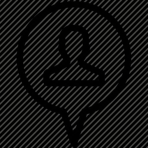 avatar, location, pin, professional, profile, tag icon