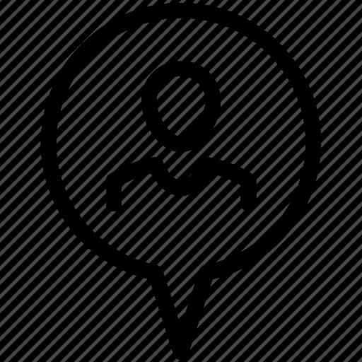 location, pin, tag, user icon