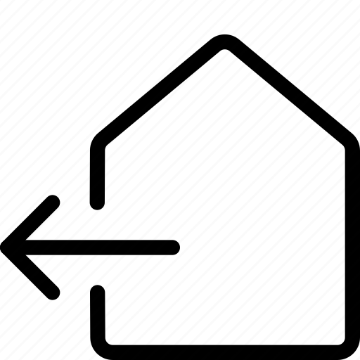 exhaust, home, house, out icon