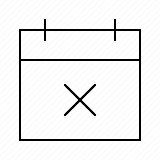 calendar, date, delete, scedule, year icon