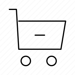 cart, commerce, minus, shopping, supermarket, web icon