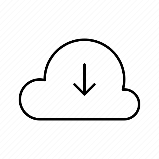 cloud, data, download, hosting, server, service icon