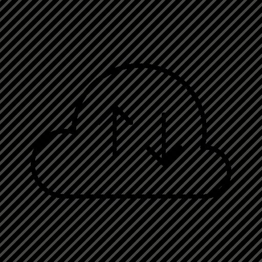cloud, data, hosting, server, service, sync icon