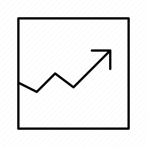 arrow, chart, grow, line, stock icon