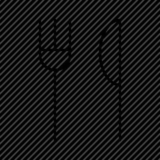 bar, food, fork, knife, restaurant icon