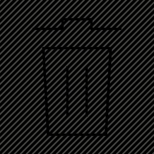garbage, interface, software, trash, web icon