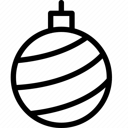 bulb, christmas, ornaments, tree icon