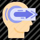 head, mind, straight, thinker, thinking