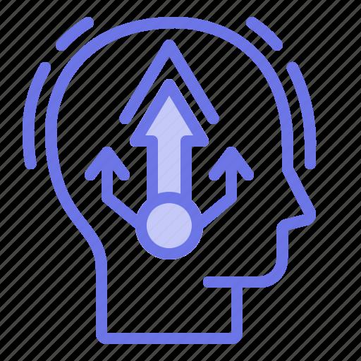 growth, head, mind, thinker, thinking icon