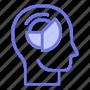 analyst, head, mind, thinker, thinking icon
