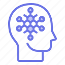 head, mind, scientific, thinker, thinking icon