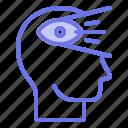 head, mind, thinker, thinking, visionaire