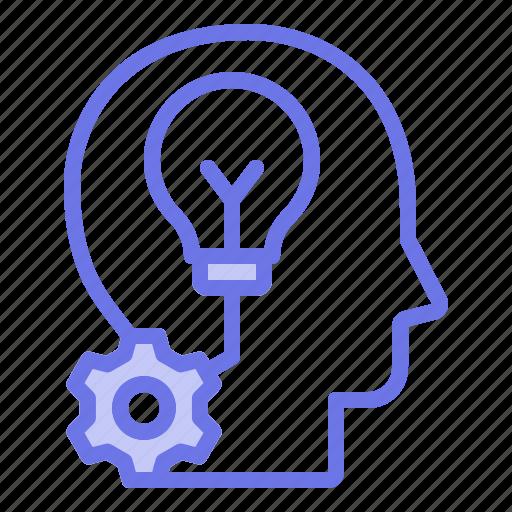 creative, head, mind, thinker, thinking icon