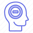 head, mind, negative, thinker, thinking