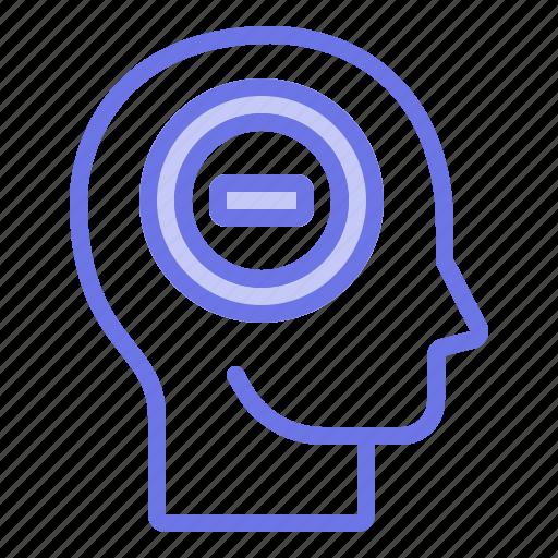 head, mind, negative, thinker, thinking icon