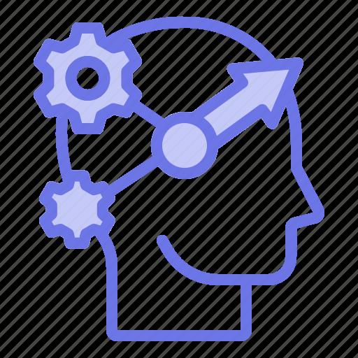 head, innovative, mind, thinker, thinking icon