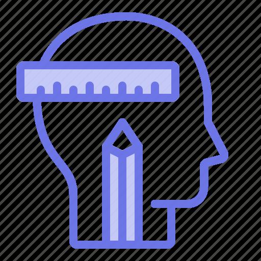 calculation, head, mind, thinker, thinking icon