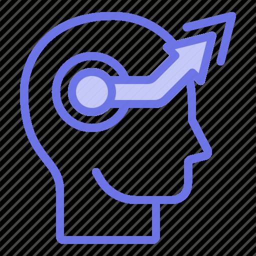 head, mind, thinker, thinking, upgraded icon
