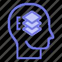 head, mind, organized, thinker, thinking icon