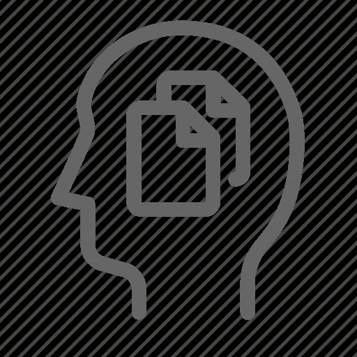 copy, paste, thinking icon