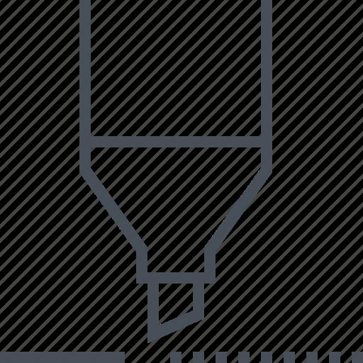 design, marker, material, office, school, tool, underline icon