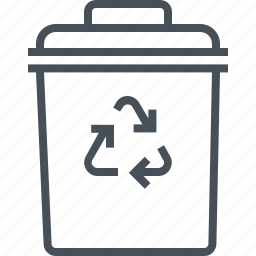 bin, can, delete, garbage, interface, rubbish, trash icon