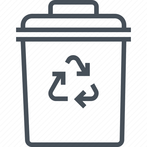 bin, can, delete, garbage, interface, rubbish, trash icon