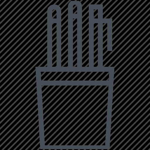 material, measuring, office, pen, pencils, school, utensils icon