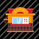 bakery, counter, kiosk, pastries, stall, street vending icon