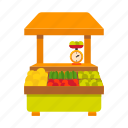 counter, fruit, kiosk, stall, street vending, vegetable icon