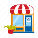 business, counter, kiosk, service, stall, street vending icon