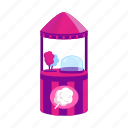 cotton candy, counter, dessert, kiosk, stall, street vending icon