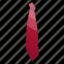 cartoon, cravat, elegant, isometric, necktie, red, tie