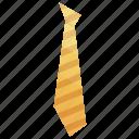cartoon, collar, isometric, shirt, striped, tie, yellow