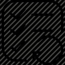 file, list, reload icon