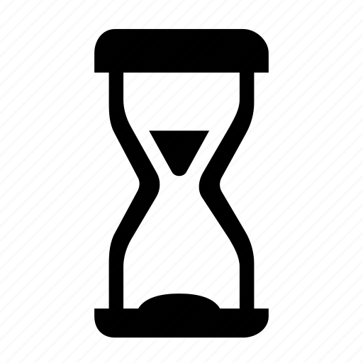 hourglass, time, wait, waiting, waiting time icon