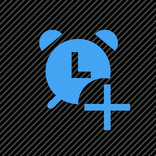 add, alarm, alert, clock, pending, plus icon