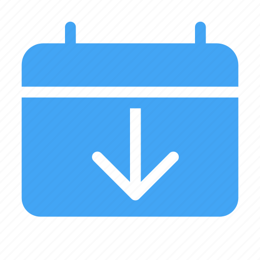 arrow, arrows, calender, date, down, download, event icon