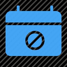 blocked, calender, date, day, envelopment, event icon